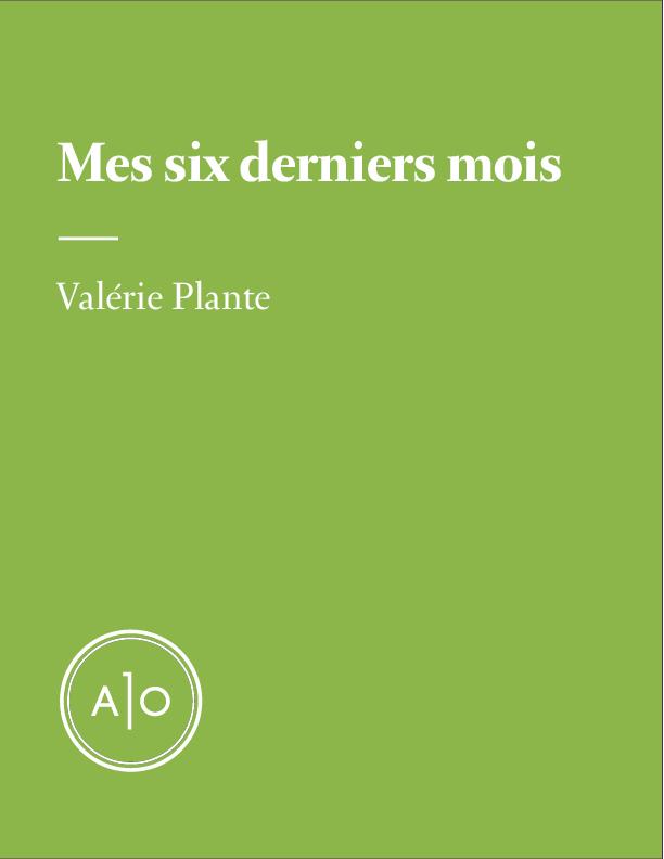 Mes six derniers mois: Valérie Plante