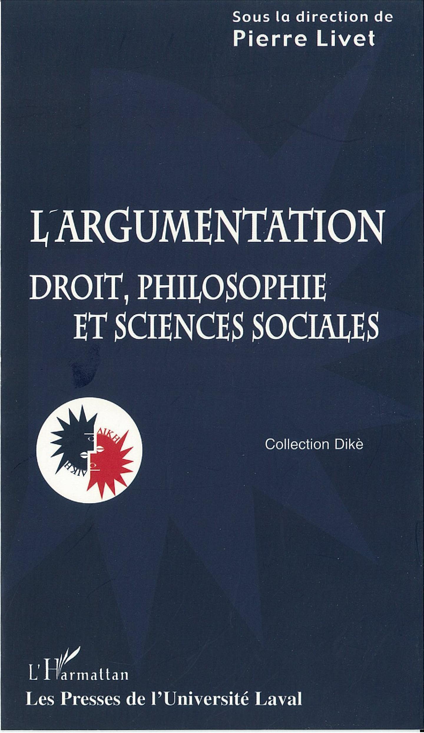 Argumentation: droit, philosphie et sciences sociales