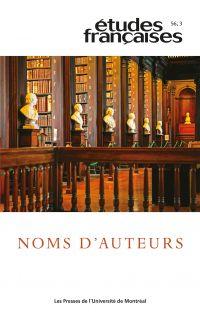 Études françaises. Vol. 56 ...