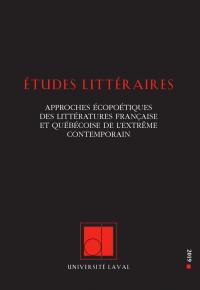 Études littéraires, vol. 48...