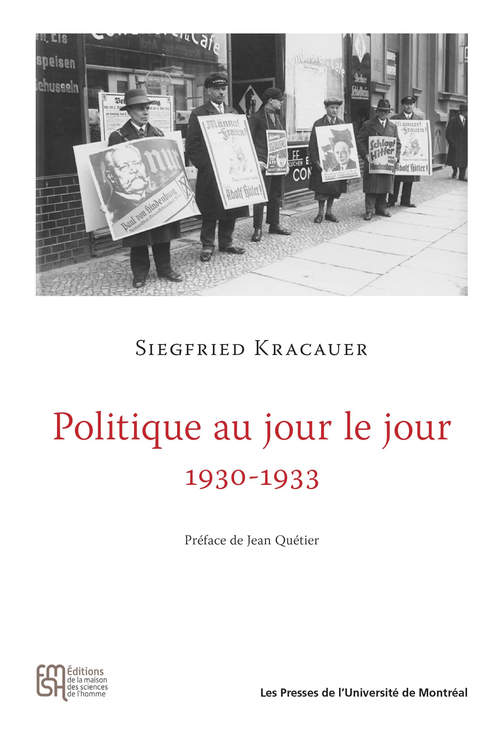 Politique au jour le jour 1930-1933