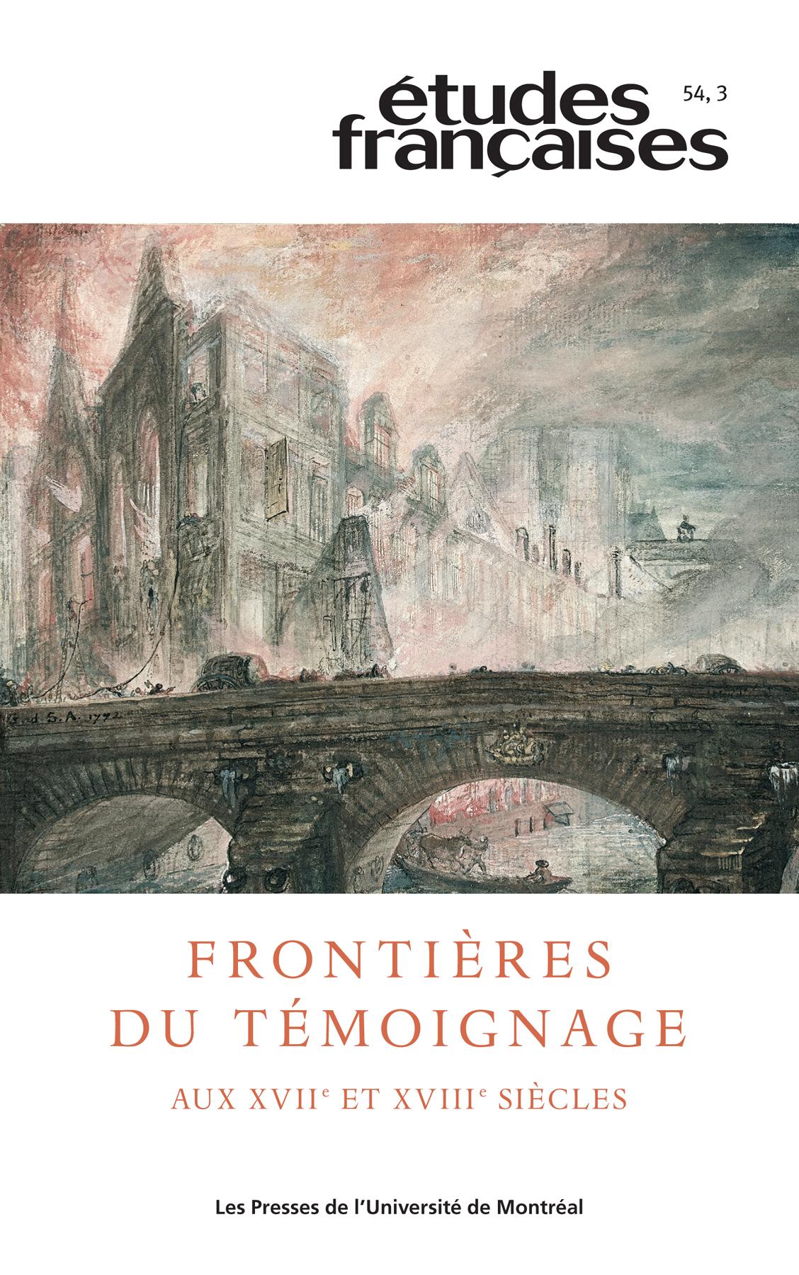 Études françaises. Vol. 54 ...