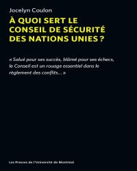 À quoi sert le conseil de sécurité des nations unies?