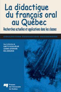 Image de couverture (La didactique du français oral au Québec)