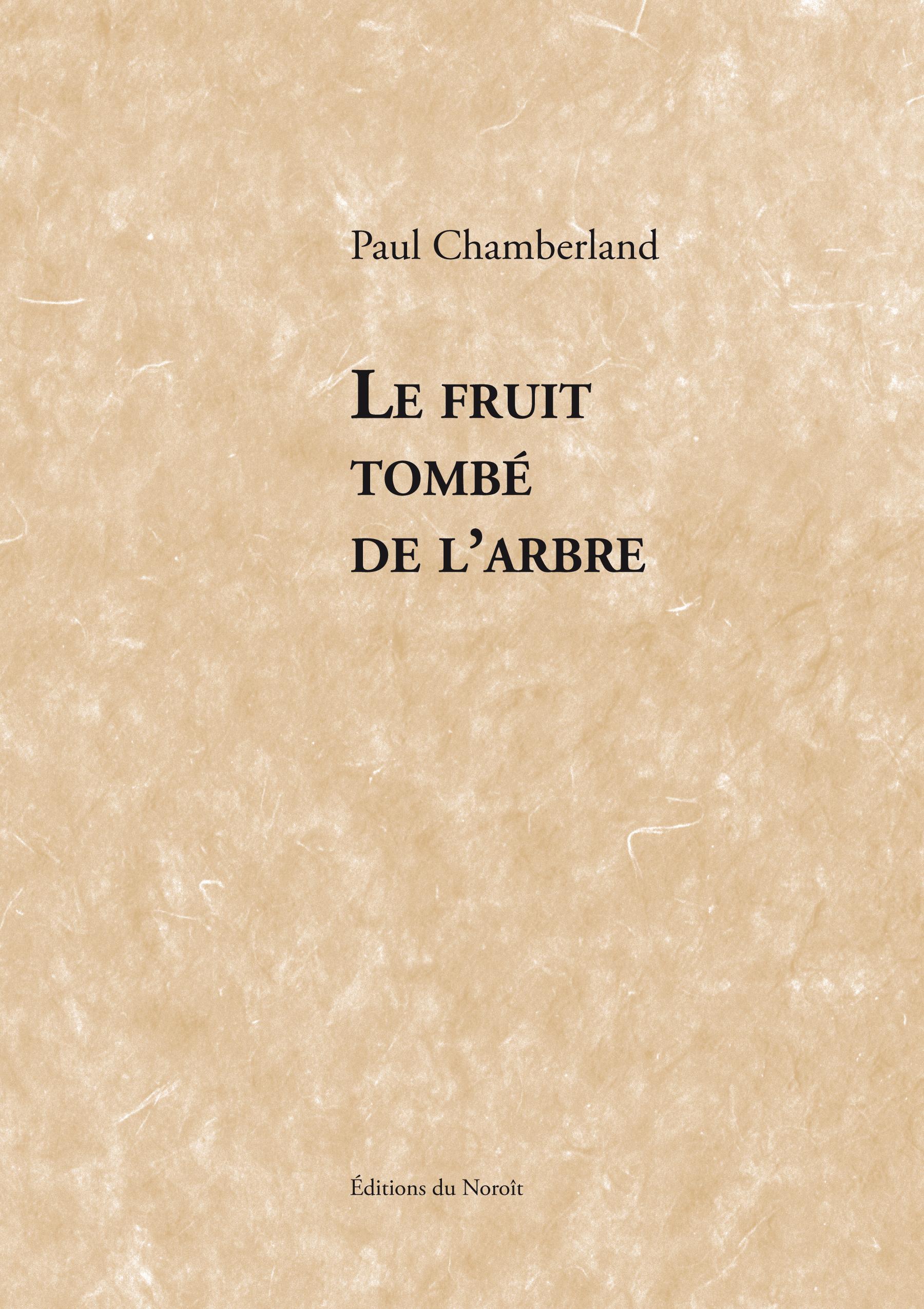 Le fruit tombé de l'arbre
