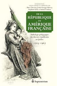 Image de couverture (De la république en Amérique française)