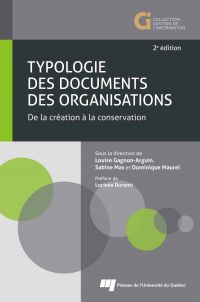 Typologie des documents des organisations, 2e édition