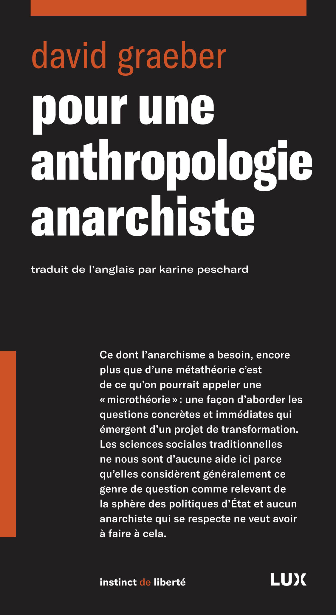 Pour une anthropologie anar...