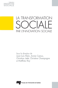 Image de couverture (La transformation sociale par l'innovation sociale)