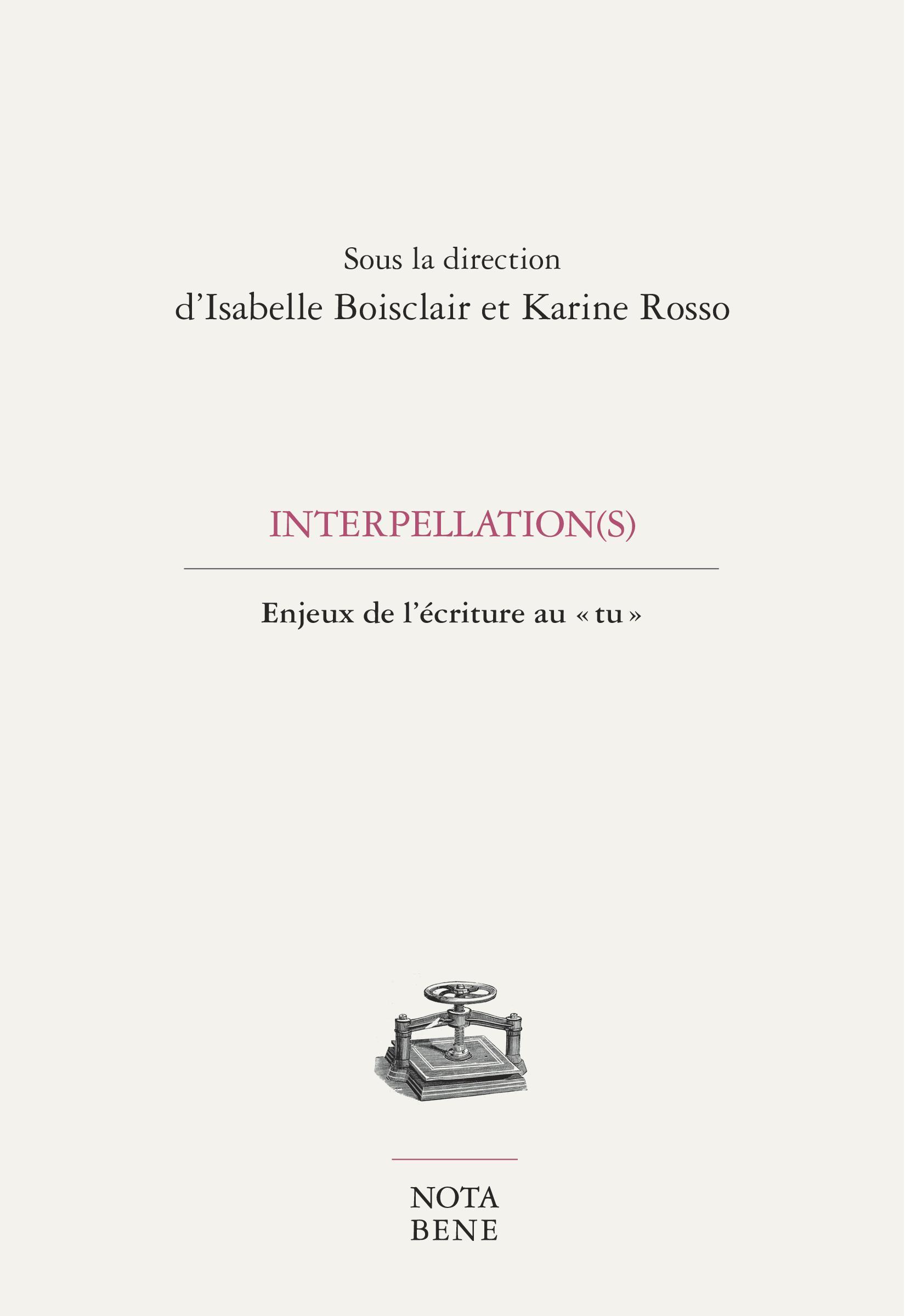 Interpellation(s)