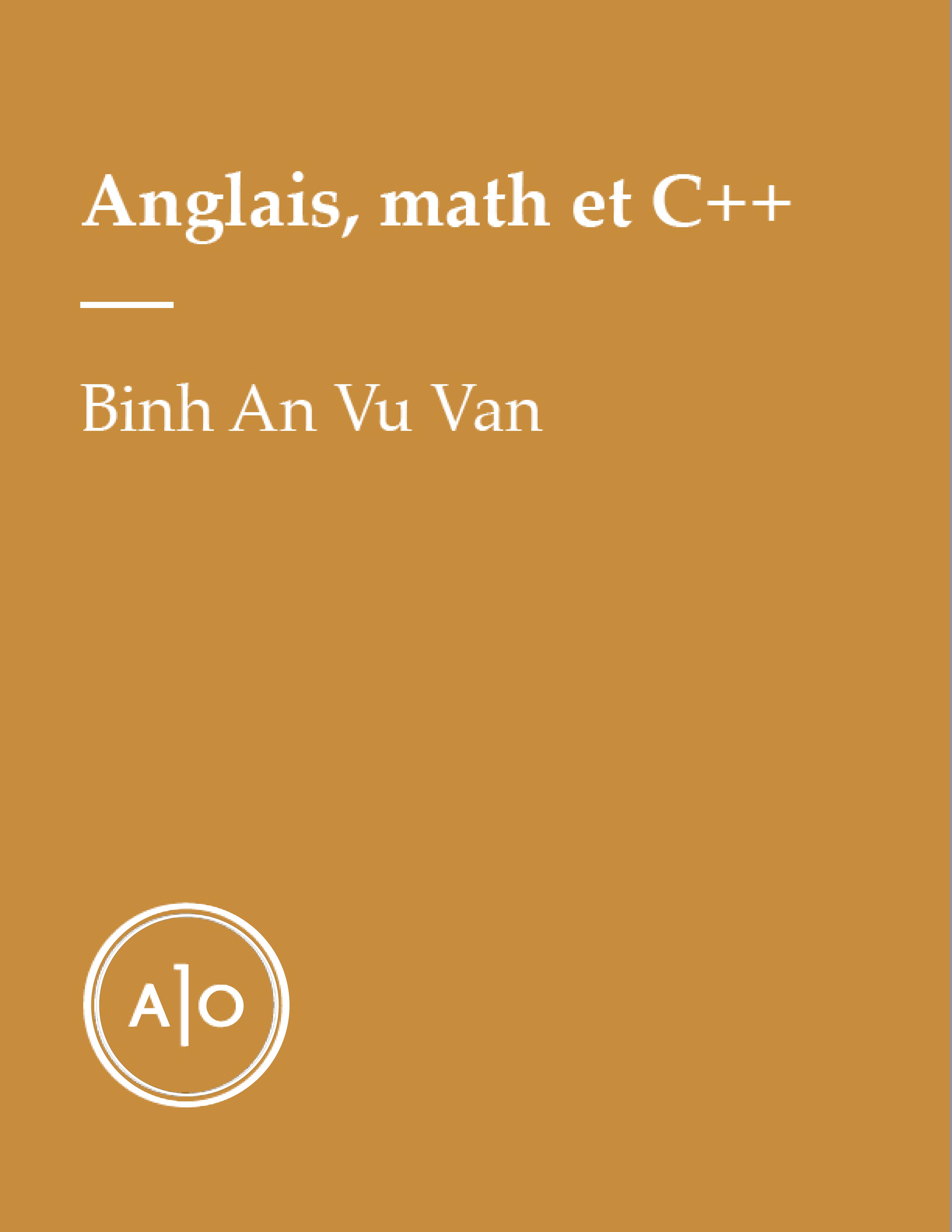 Anglais, math et C++