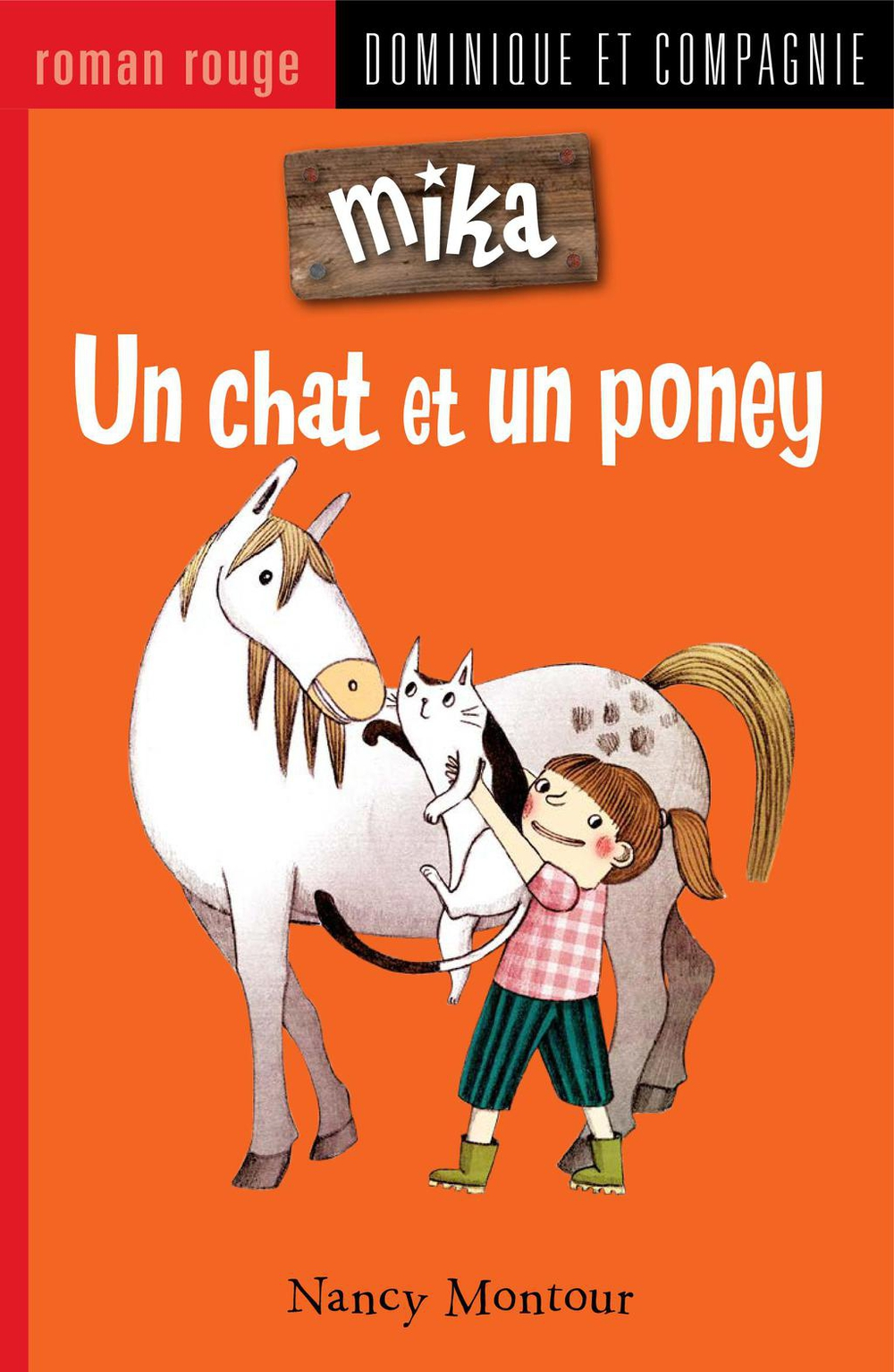Un chat et un poney