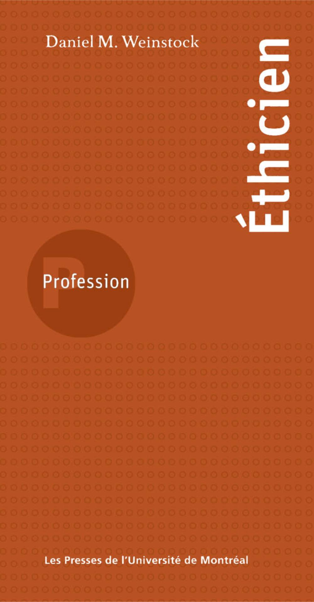 Profession éthicien