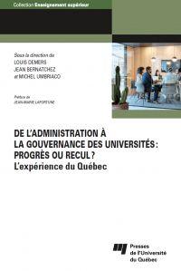 De l'administration à la gouvernance des universités: progrès ou recul?