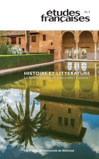 Études françaises. Vol. 53 No. 3,  2017