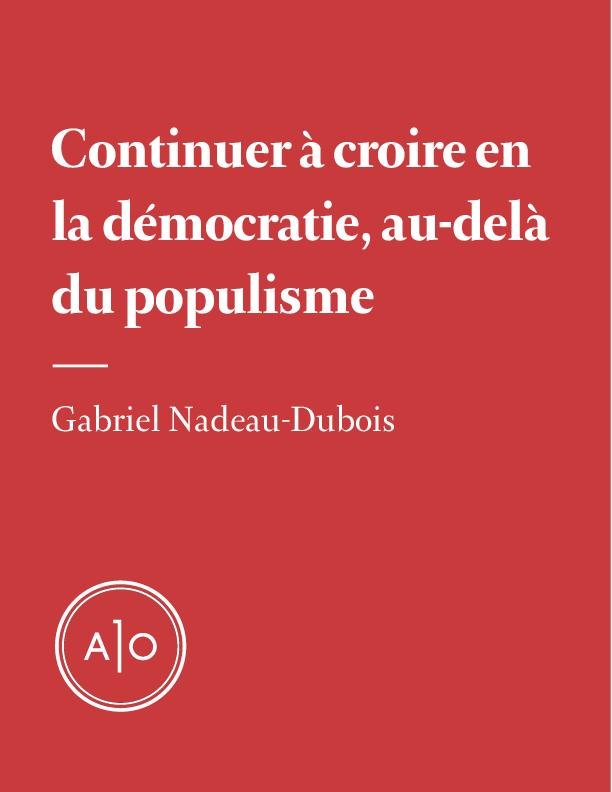 Croire en la démocratie, au...