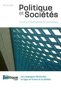 Politique et Sociétés. Vol. 37 No. 2,  2018