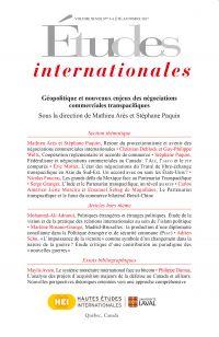 Études internationales. Volume 48 numéro 3-4 été-automne 2017