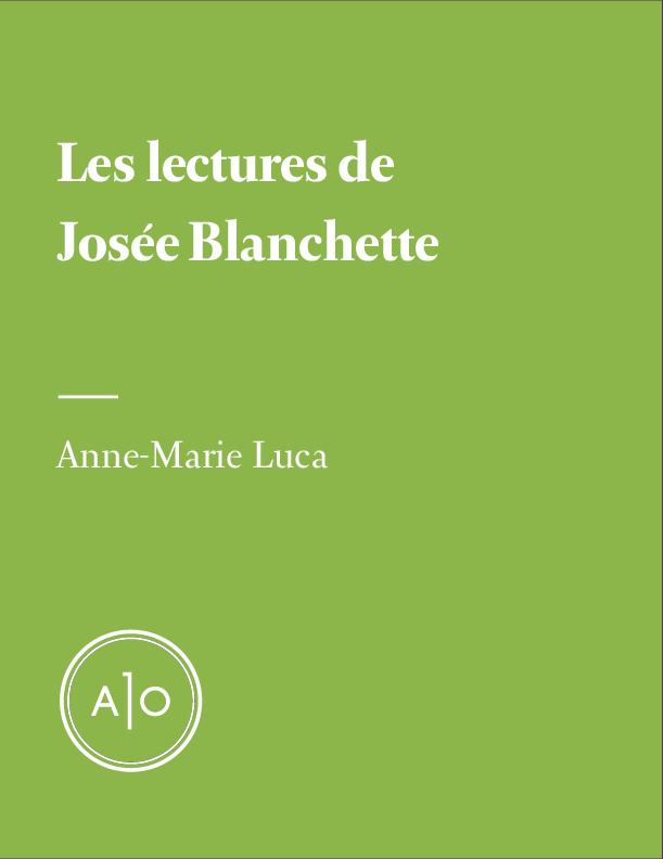 Les lectures de Josée Blanchette