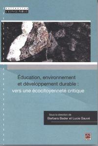 Éducation, environnement et développement durable ...