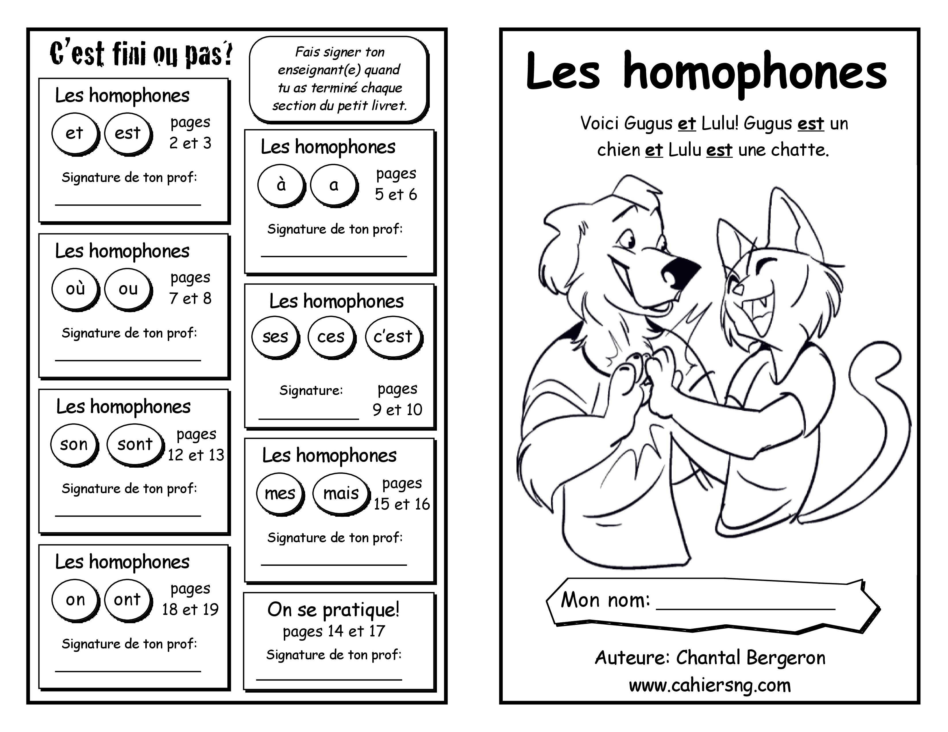 Homophones (Affiches)