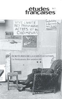 Études françaises, vol. 54 ...
