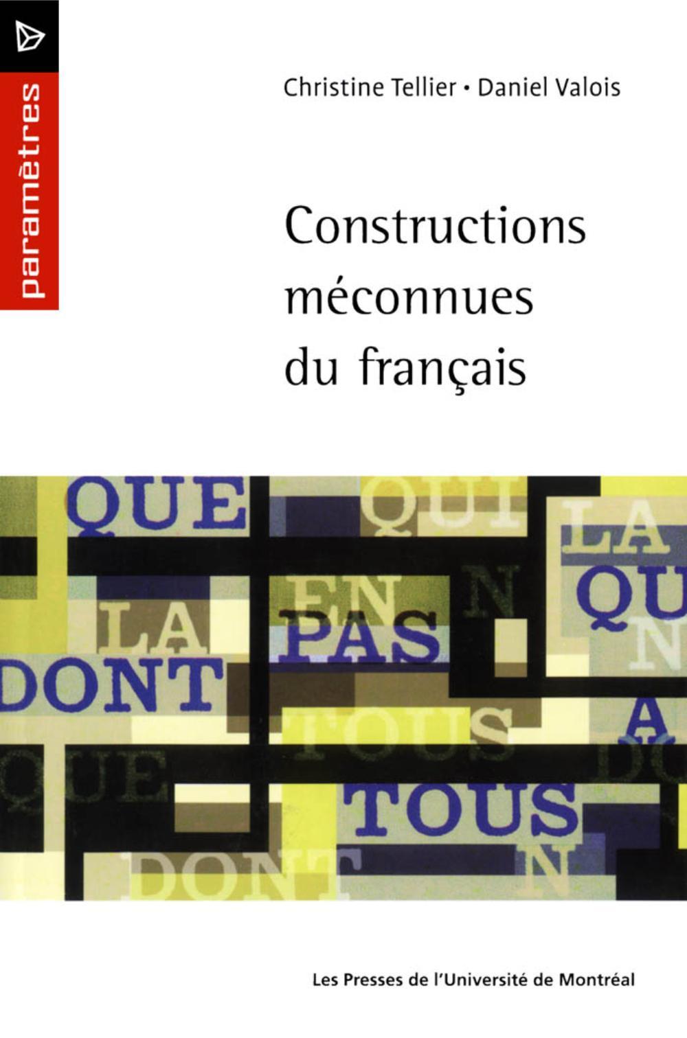 Constructions méconnues du ...
