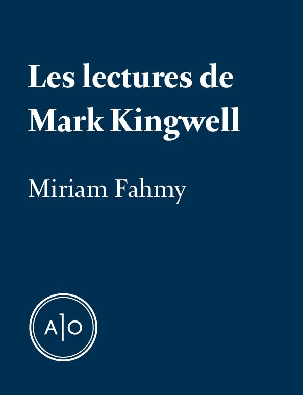 Les lectures de Mark Kingwell