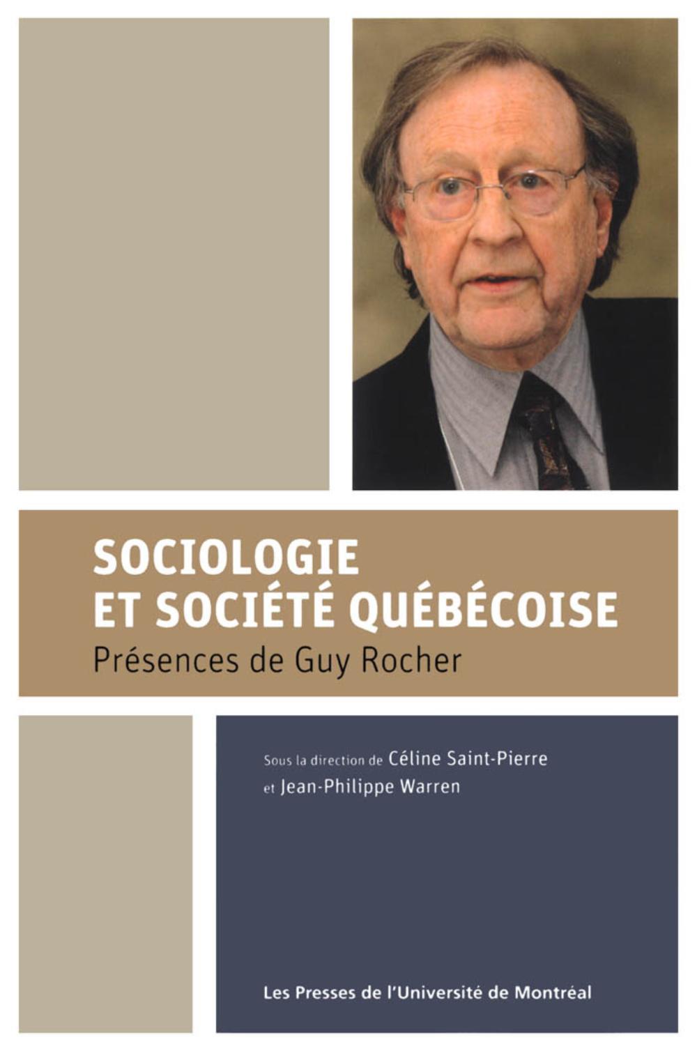 Sociologie et société québé...