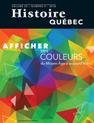 Histoire Québec. Vol. 23 No. 4,  2018