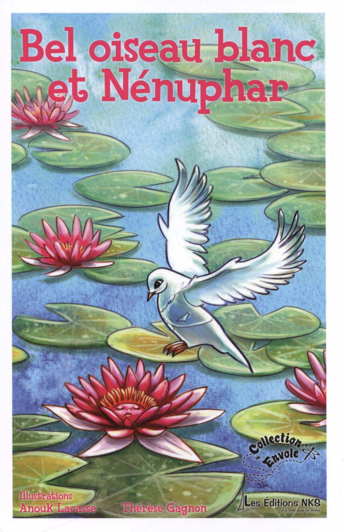 Bel oiseau blanc et Nénuphar
