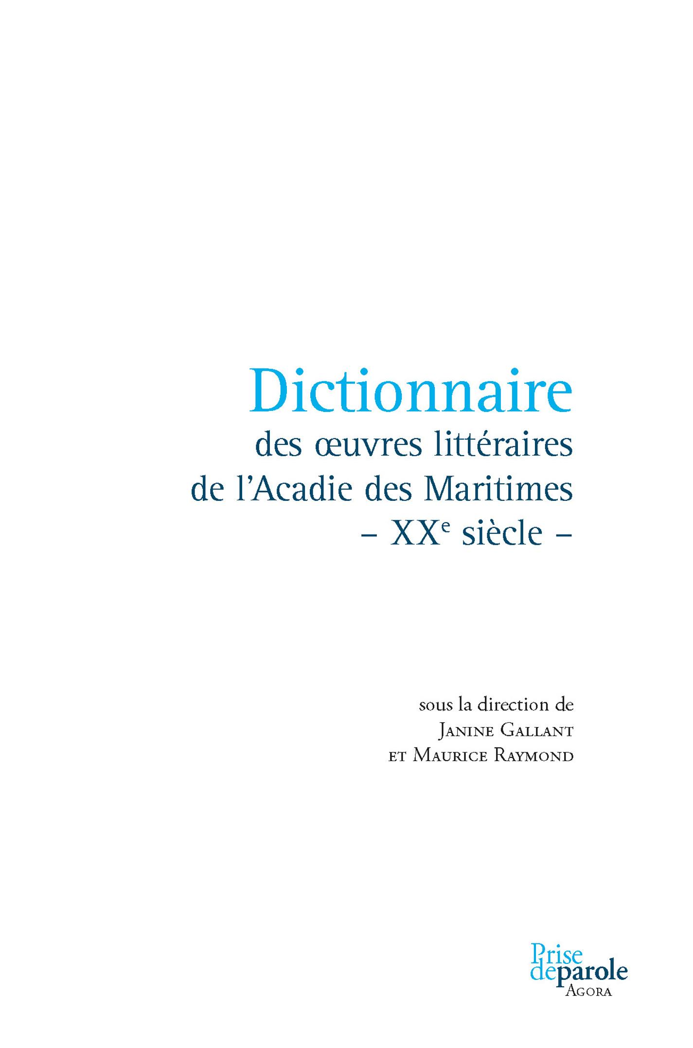 Dictionnaire des oeuvres li...