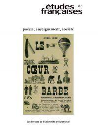 Volume 41, numéro 3, 2005