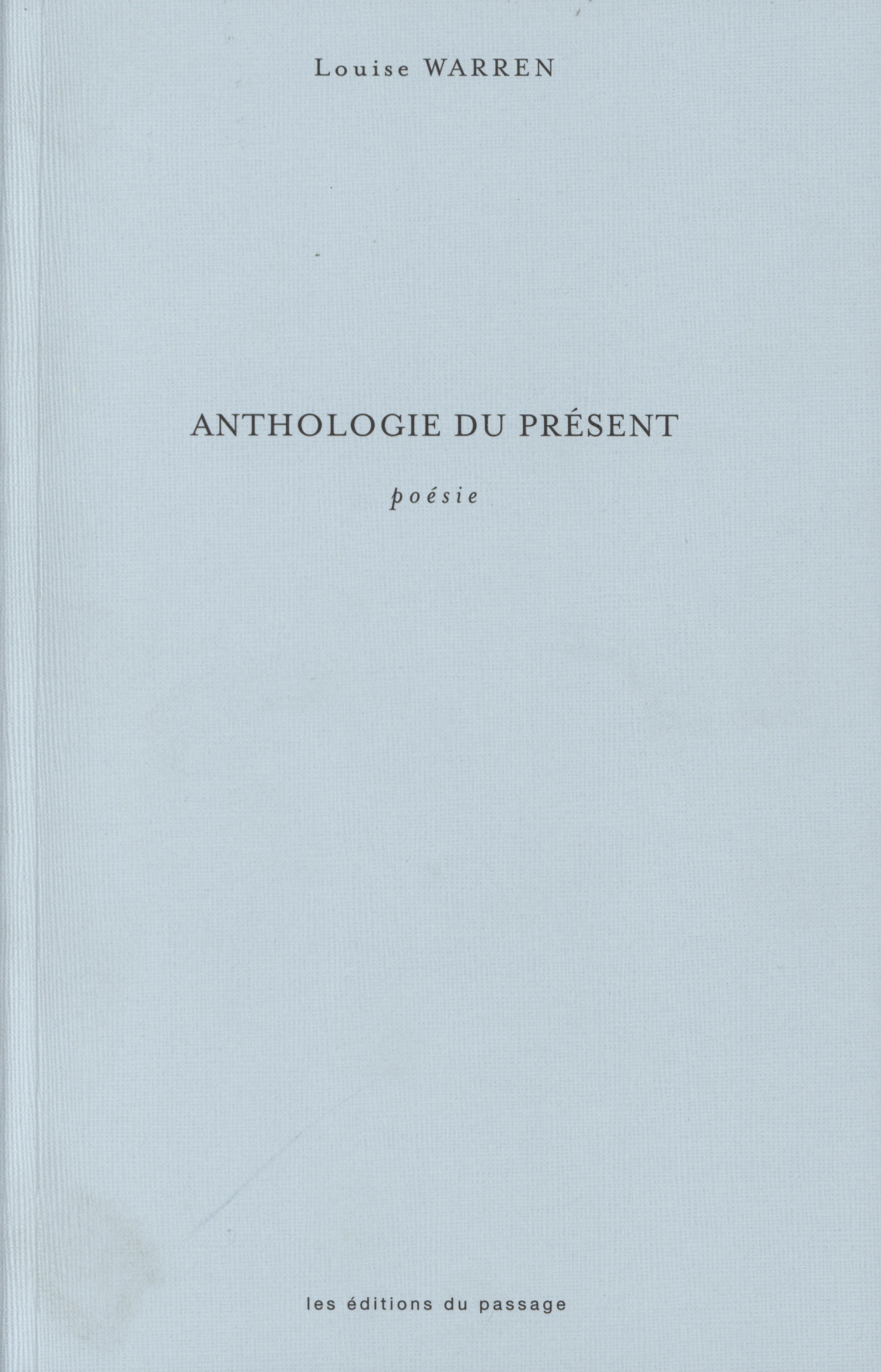 Anthologie du présent