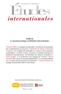 Études internationales. Volume 48 numéro 2, printemps 2017