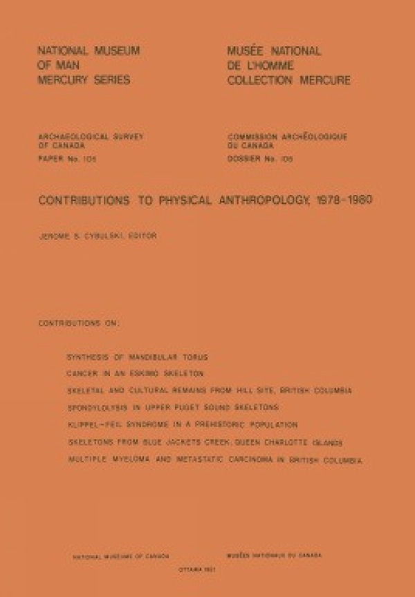 Contributions to Physical Anthropology, 1978-1980