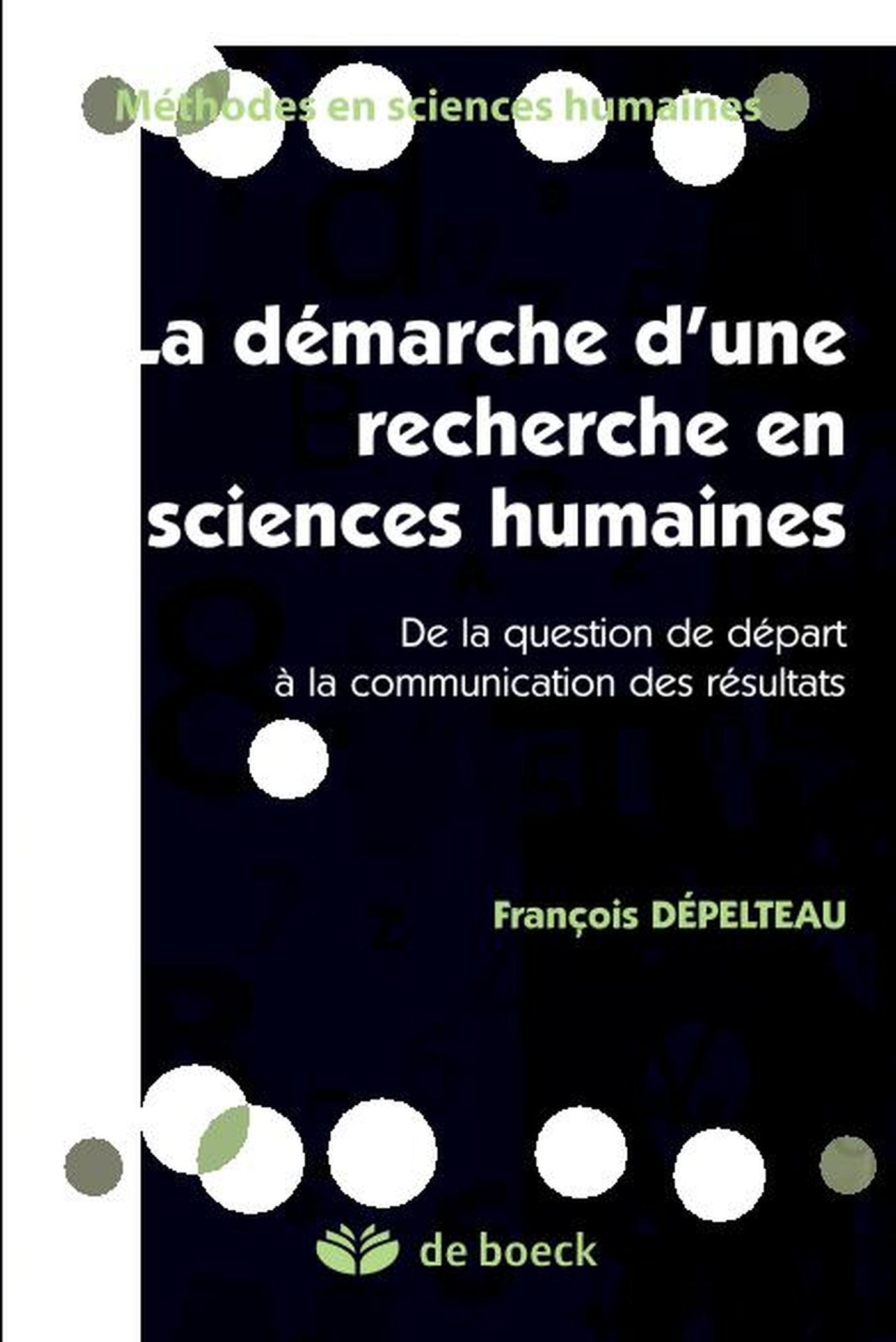 Démarche d'une recherche en sciences humaines