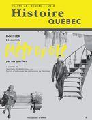 Histoire Québec. Vol. 24 No. 2,  2018