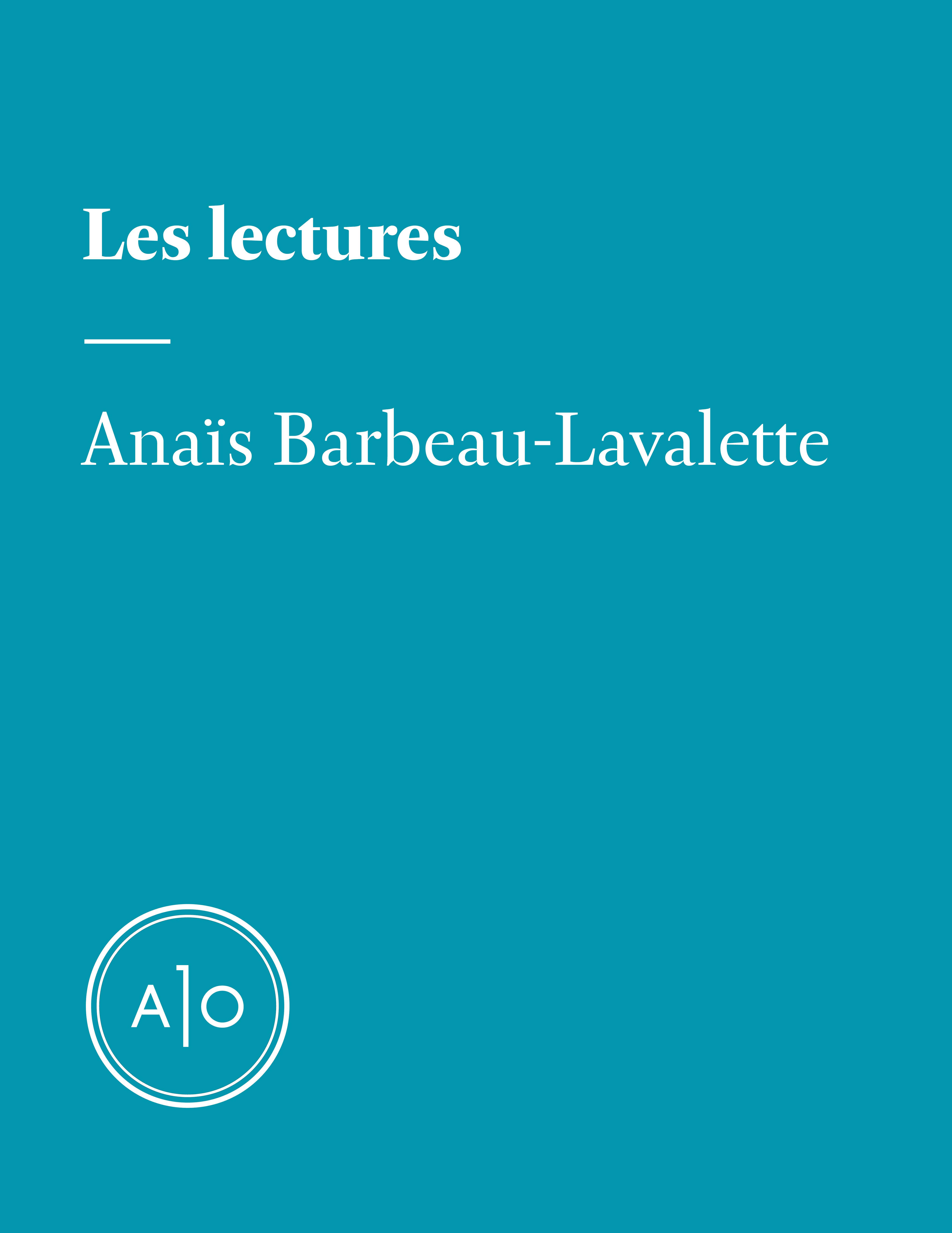 Les lectures d'Anaïs Barbea...