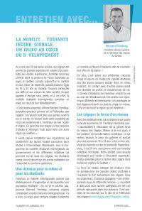 Entrevue Fédération des cégeps