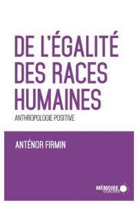 Image de couverture (De l'égalité des races humaines)