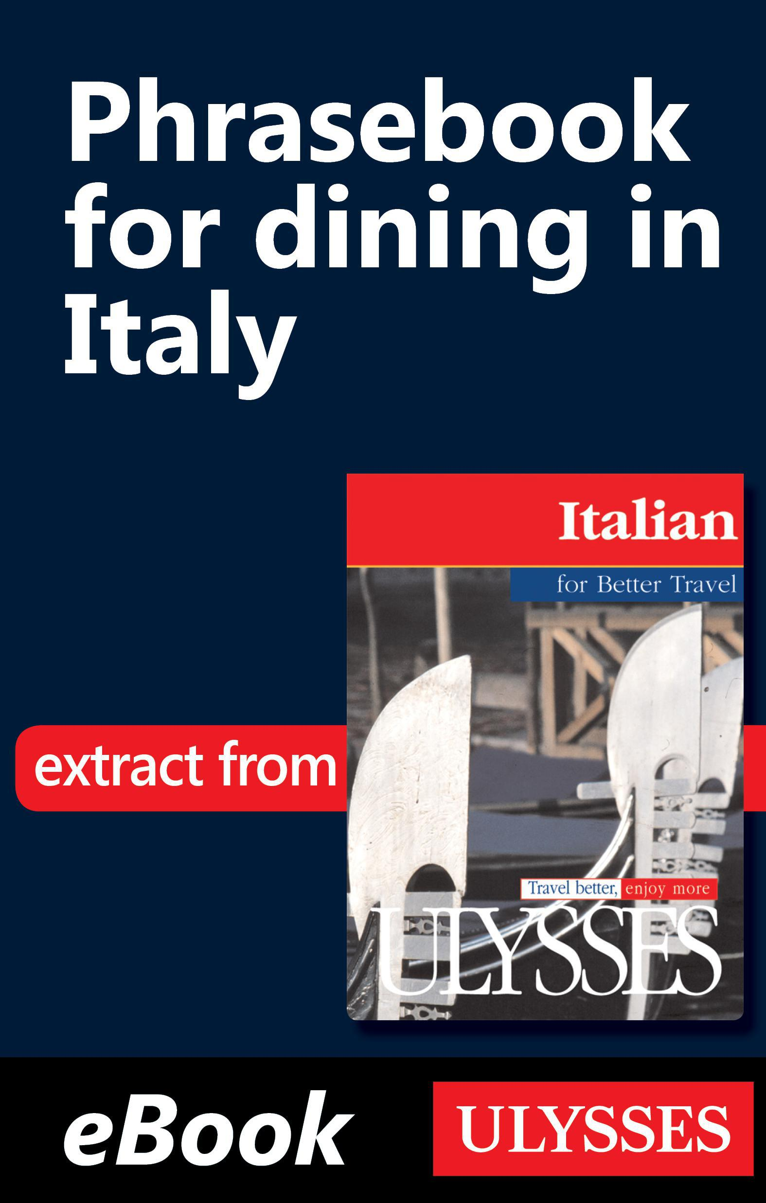 Phrasebook for dining in Italy